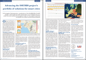 SMURBS' portfolio of solutions for smart cities is now hosted on the SciTech Europa Quarterly Magazine, December's edition! 3/12/2019
